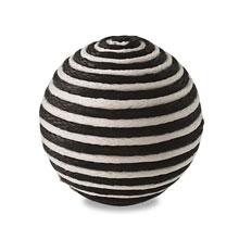 糸巻き玉 ホワイト&ブラック