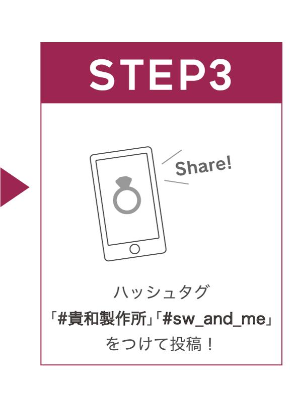 ステップ3 ハッシュタグをつけて投稿